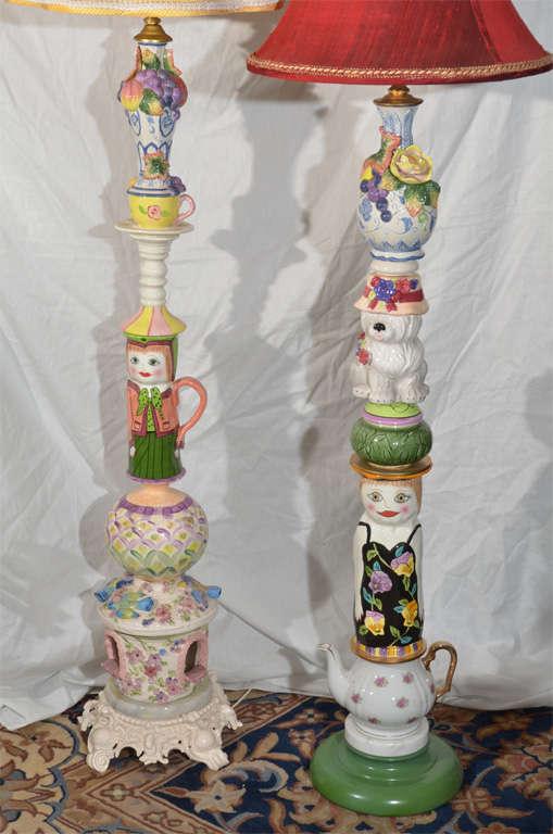 Whimsical Custom Made Floor Lamps At 1stdibs