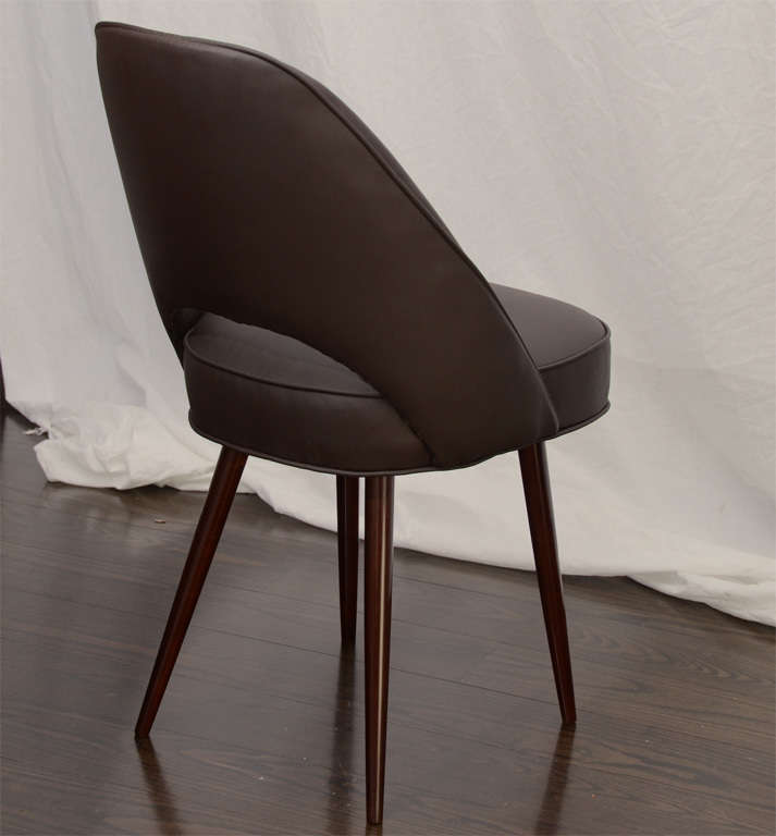 set twelve leather barrel back dining chairs at 1stdibs