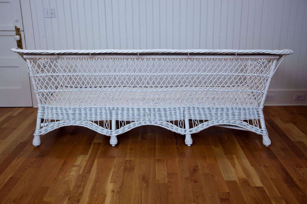 Oversized Antique Bar Harbor Wicker Sofa At 1stdibs