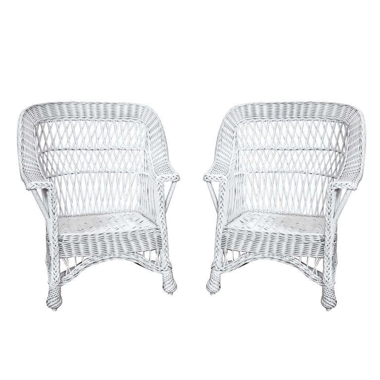 Heywood Wakefield Bar Harbor Wicker Chairs At 1stdibs