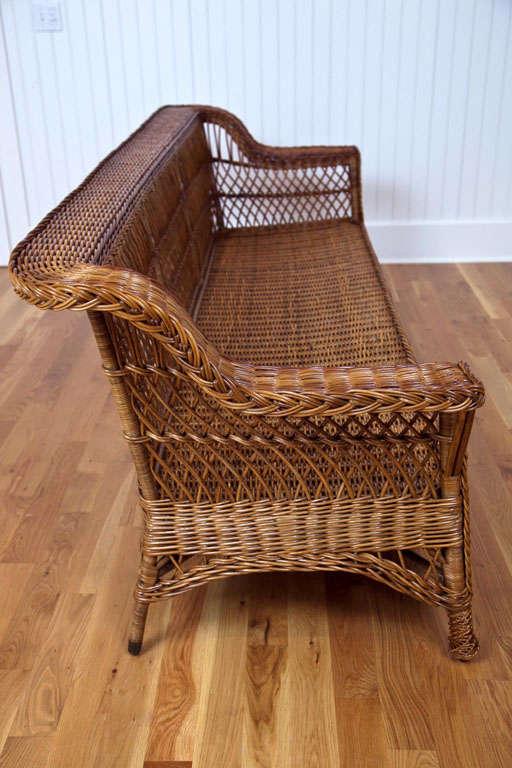 Antique Bar Harbor Wicker Sofa At 1stdibs