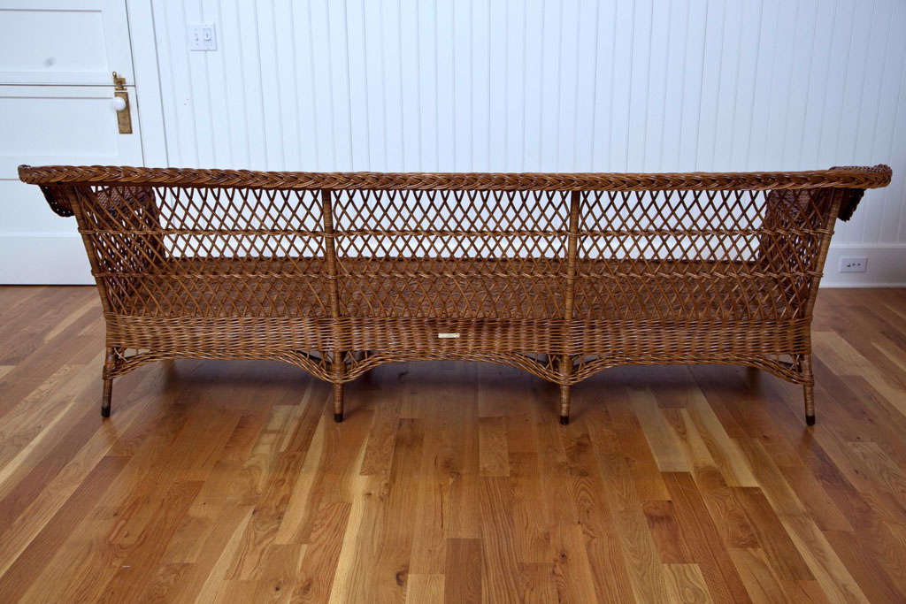 Antique Bar Harbor Wicker Sofa At 1stdibs