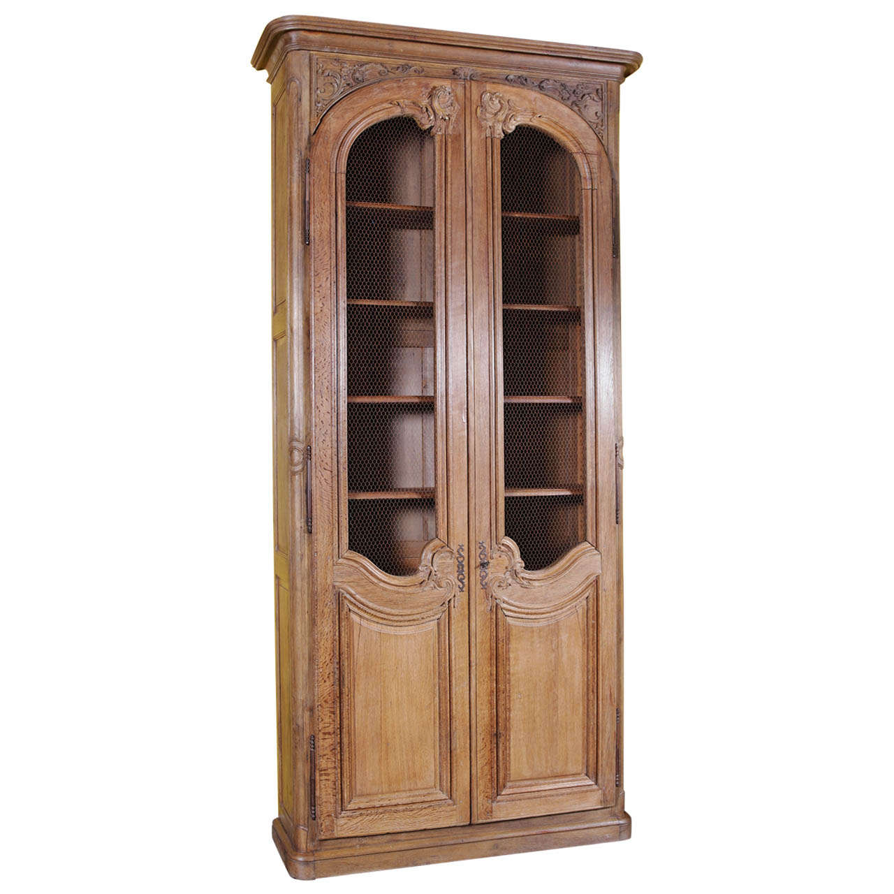 Tall antique parisian bookcase bibliotheque cabinet for sale at 1stdibs - Bibliotheque 6 cases ...