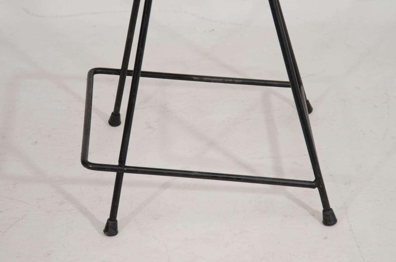 Set Of Three Counter Height Bar Stools By Arthur Umanoff