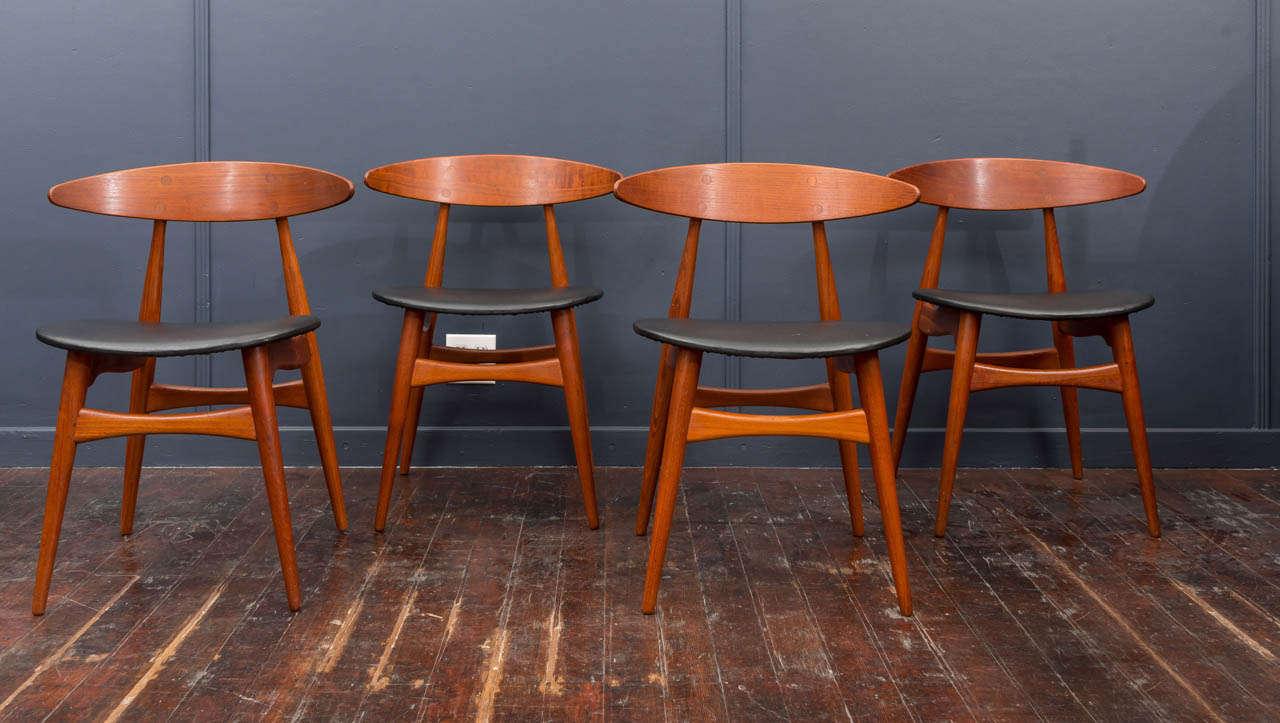 Esszimmerstühle CH33 von Hans Wegner 2
