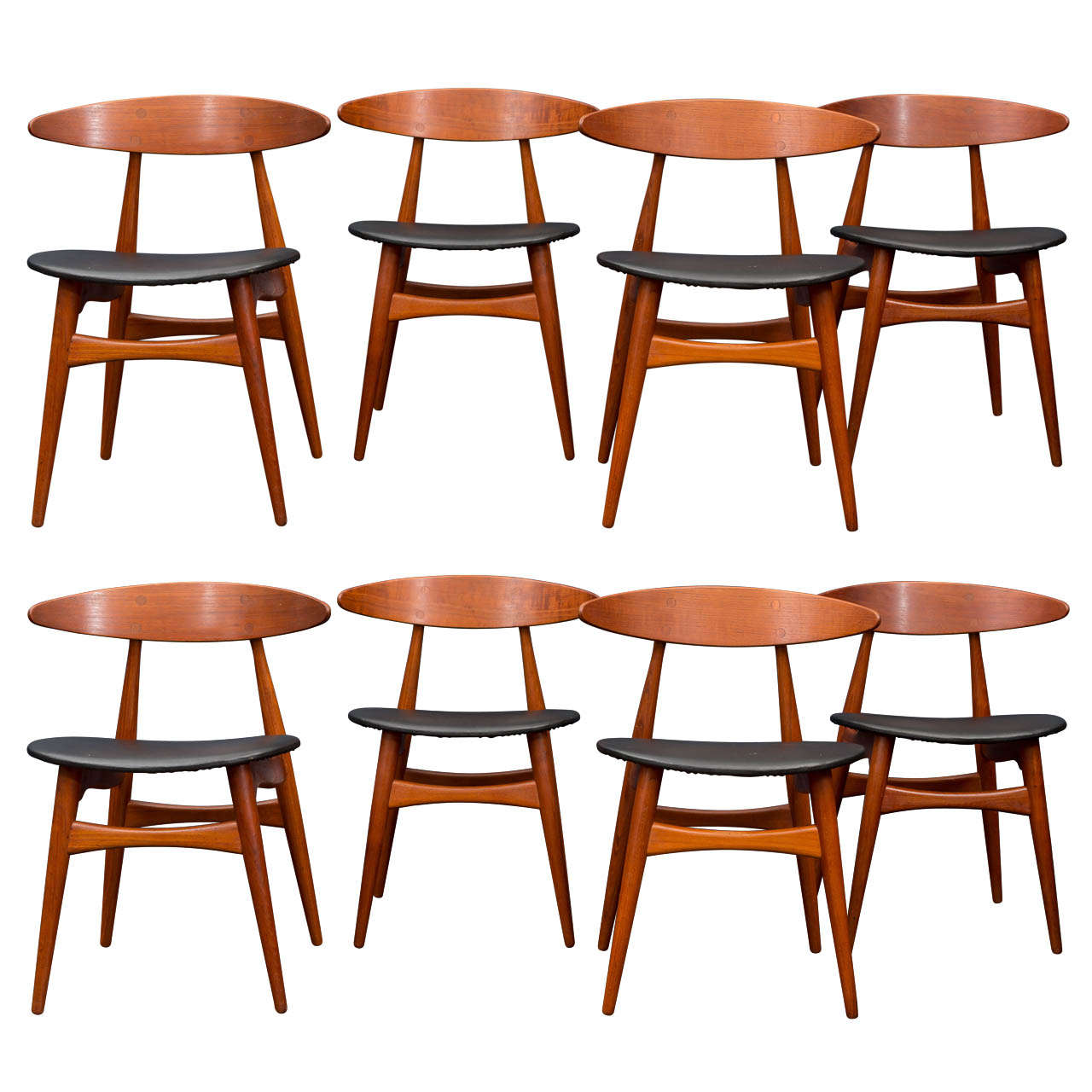 Hans wegner ch33 dining chairs for sale at 1stdibs for Wegner dining chair