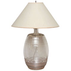 Glass Spirit Barrel, as Lamp
