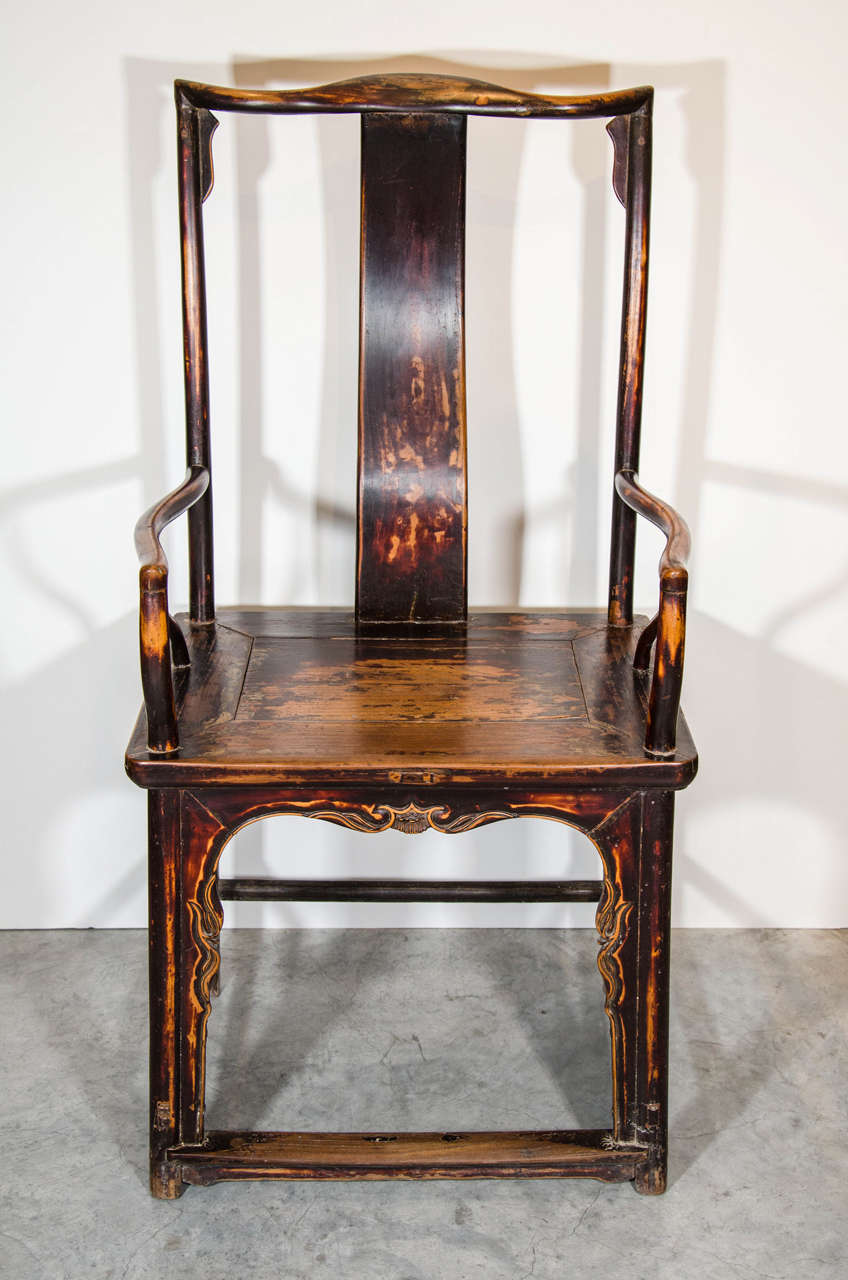 Early 20th Century Chinese Official's Armchair For Sale
