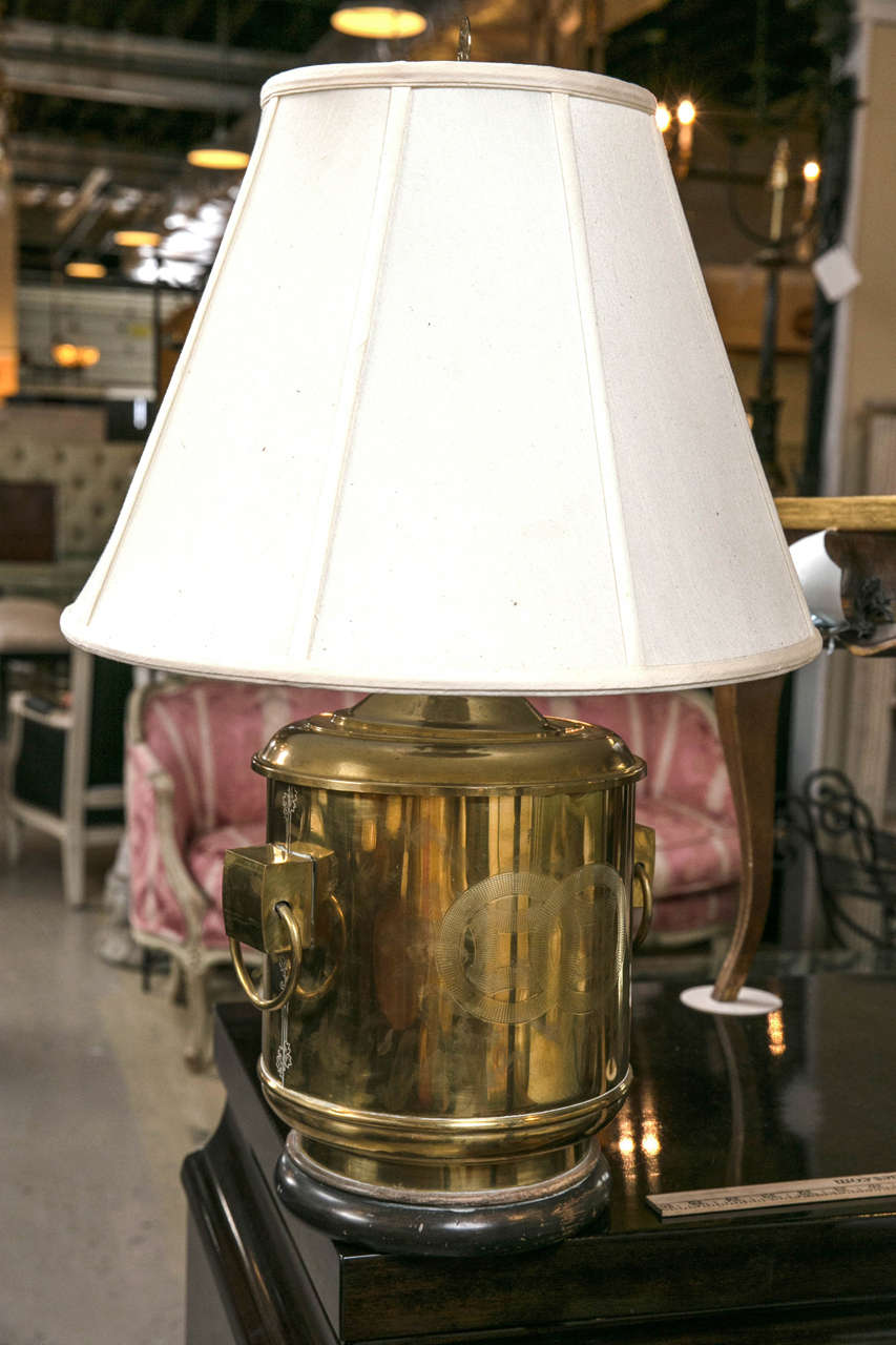 Pair Of Brass Chinese Fashion Ginger Jar Table Lamps At