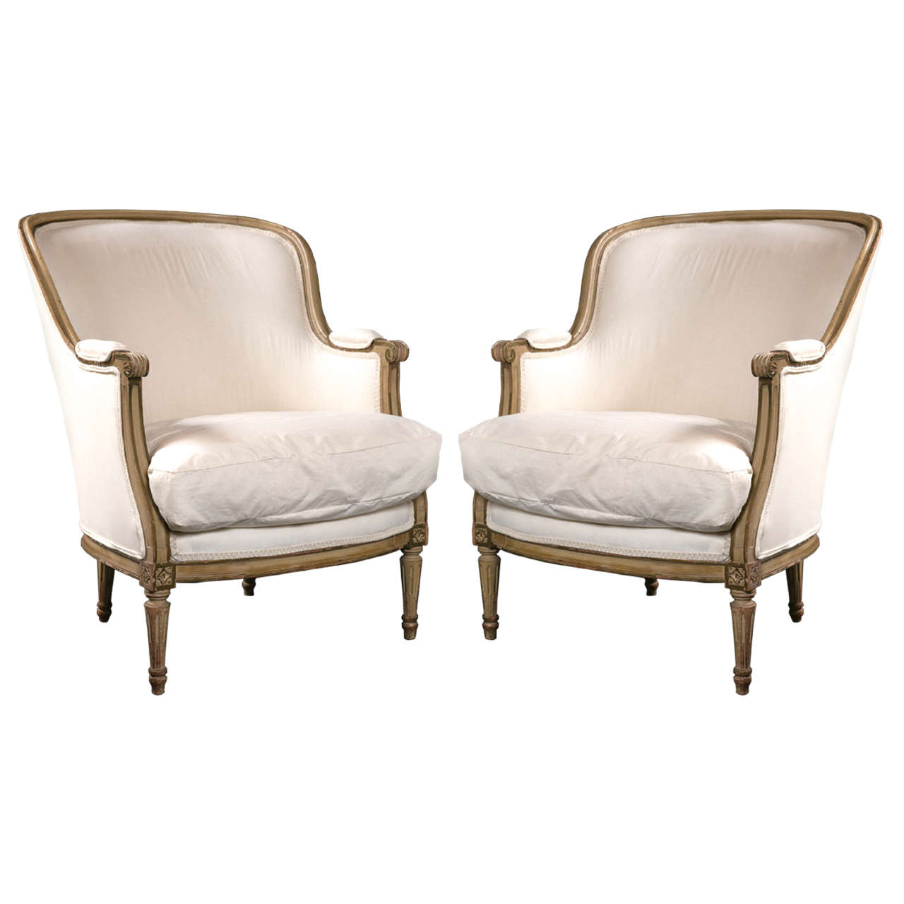 Pair Of Maison Jansen Berg Re Chairs In Louis XVI Style At 1stdibs