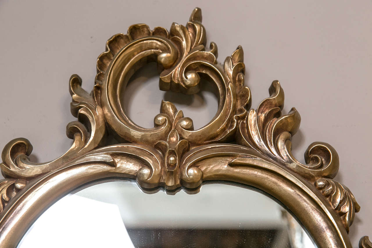 Pair of decorative rococo style mirrors at 1stdibs for Rococo decorative style