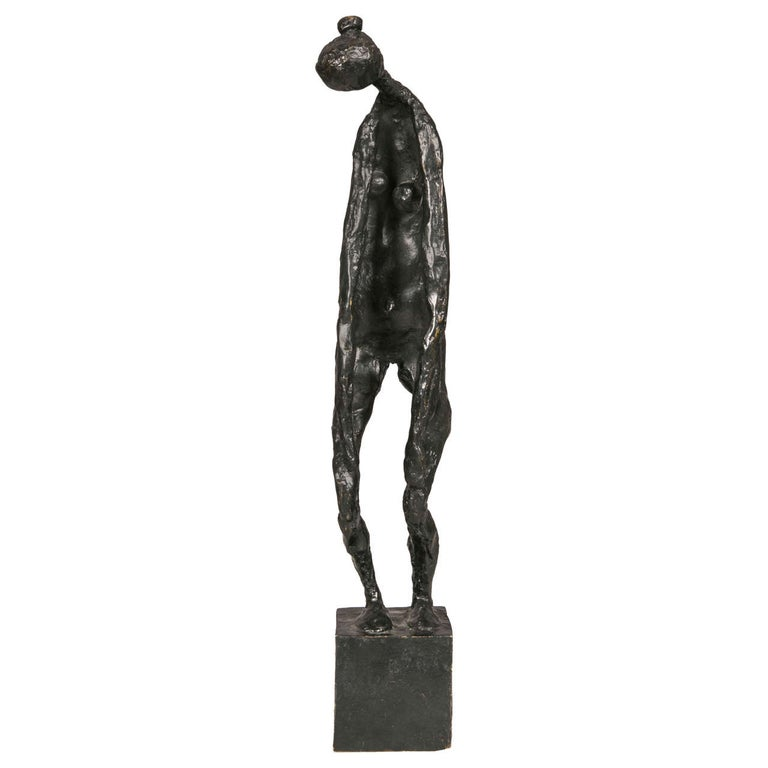 Bronze Standing Woman by Robert Couturier For Sale