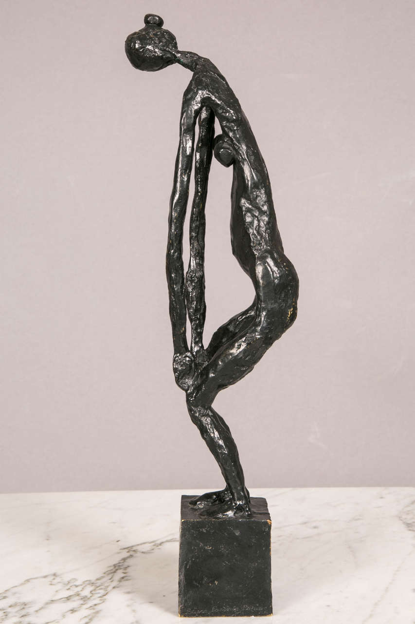 Patinated Bronze Standing Woman by Robert Couturier For Sale