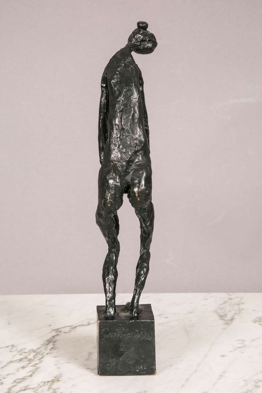 Late 20th Century Bronze Standing Woman by Robert Couturier For Sale