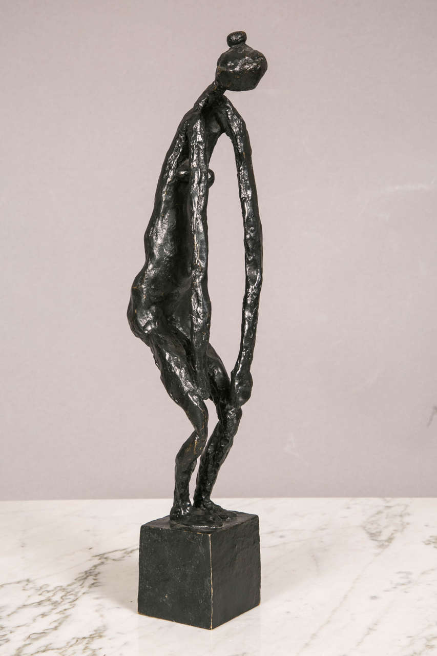 Bronze Standing Woman by Robert Couturier For Sale 2