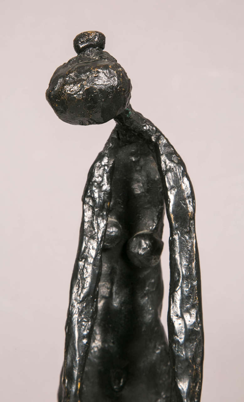 Bronze Standing Woman by Robert Couturier For Sale 3