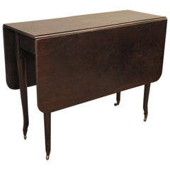 Plum Pudding Mahogany Drop-Leaf Dining, Game, or Side Table from England
