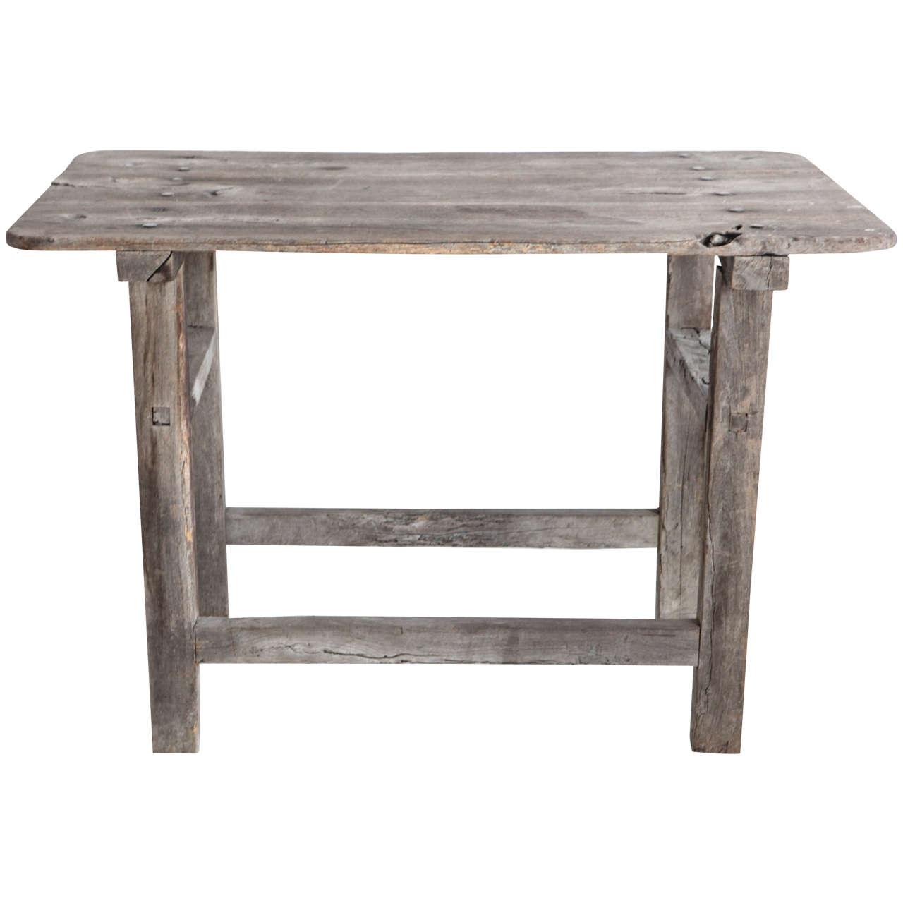 Rustic grey wash bar table at 1stdibs rustic grey wash bar table 1 geotapseo Images