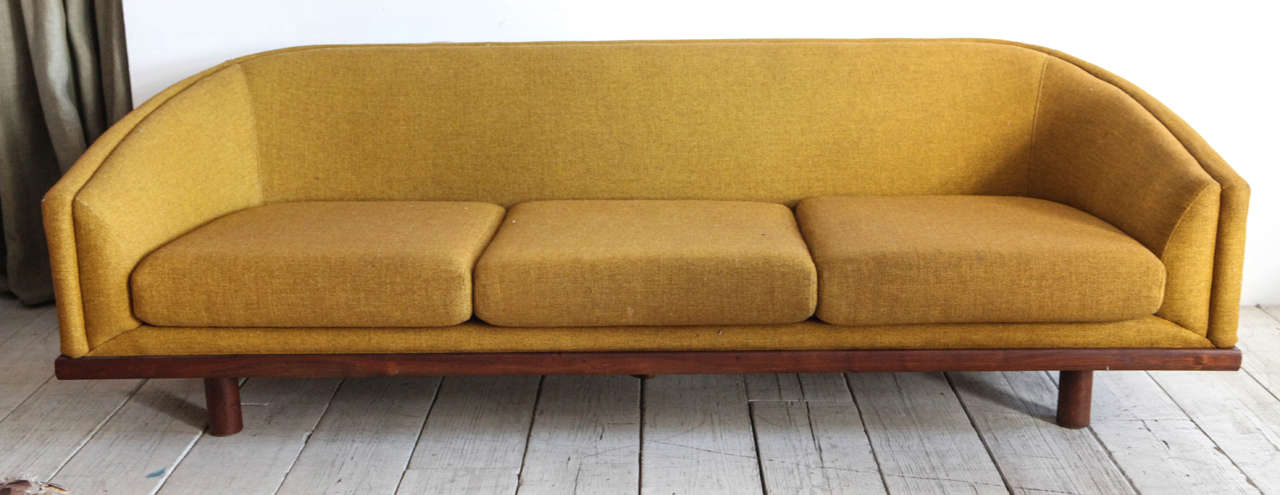 Beautiful Solid Mid Century Sofa With Perriand Style Base