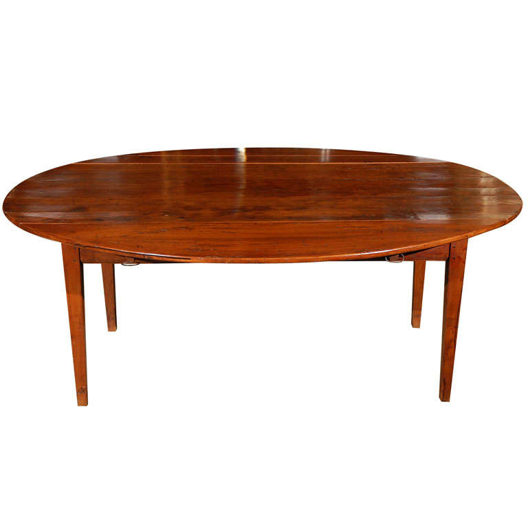 Large Oval French Provencial Dining Table At 1stdibs