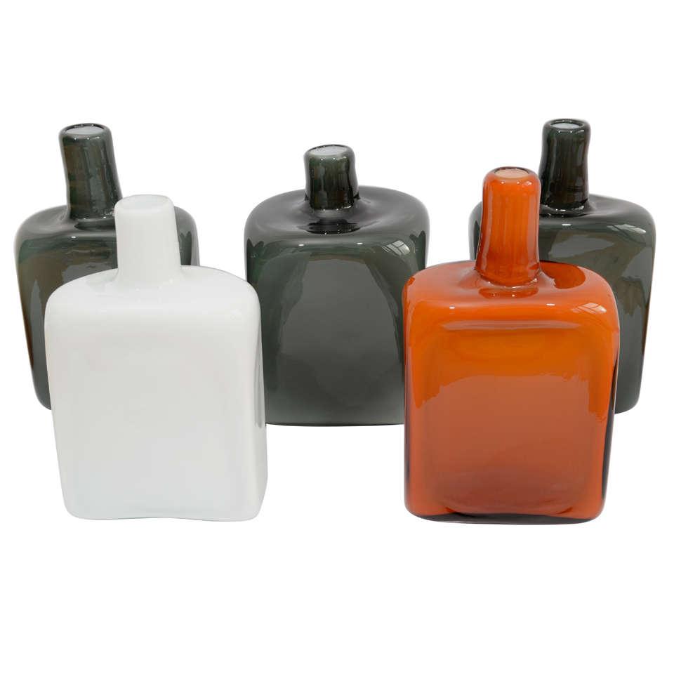 Five Tom Dixon for Salviati Vases