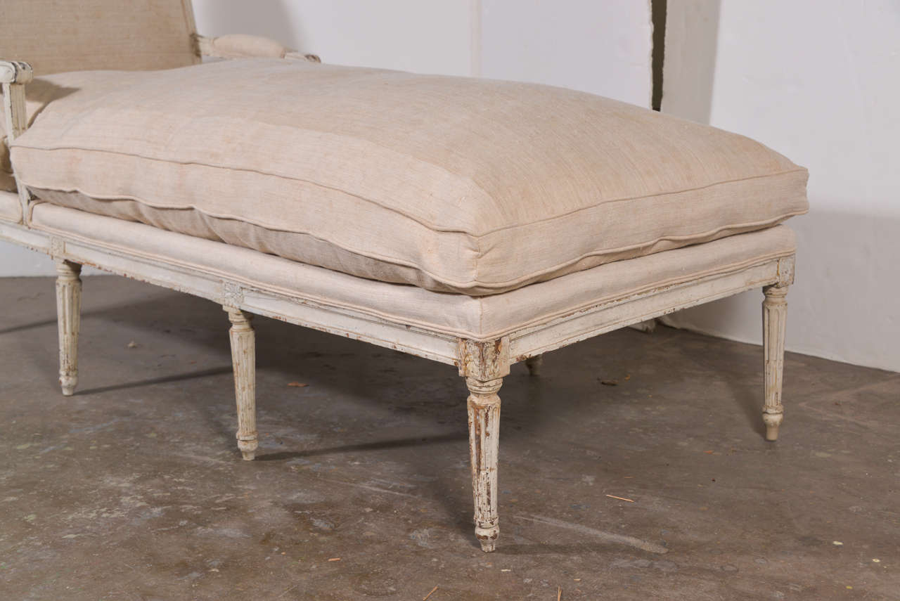 18th c louis xvi french chaise lounge at 1stdibs. Black Bedroom Furniture Sets. Home Design Ideas