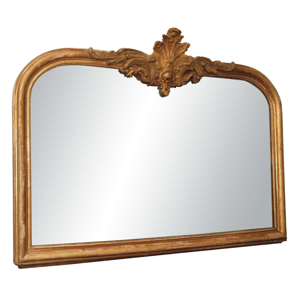 A horizontal louis phillipe mirror with cartouche at 1stdibs for Fireplace mirrors
