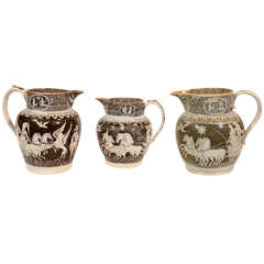 3 Jugs with Neoclassical Scenes
