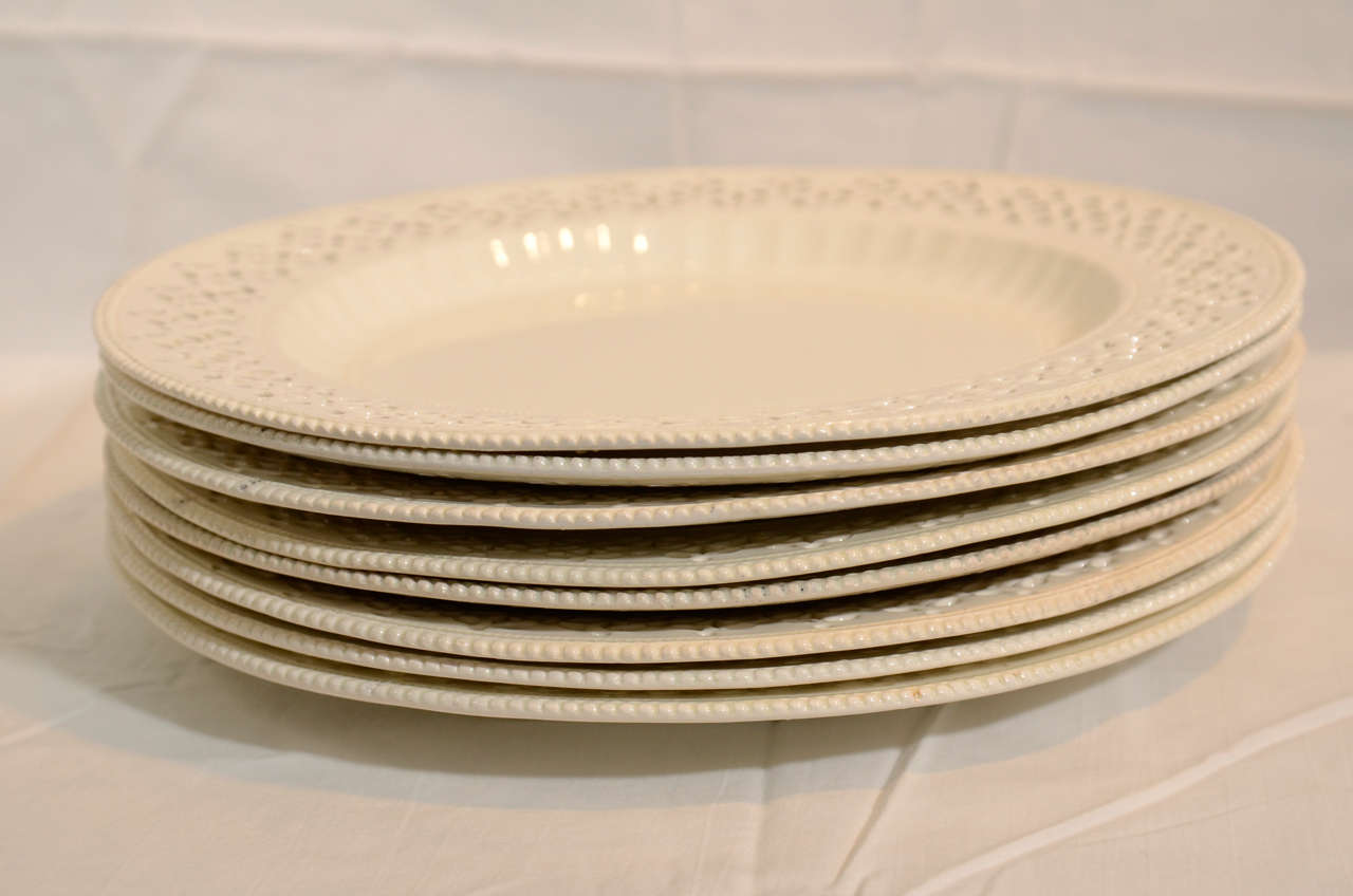 A Set of 18th Century Pierced Antique Creamware Dishes 5