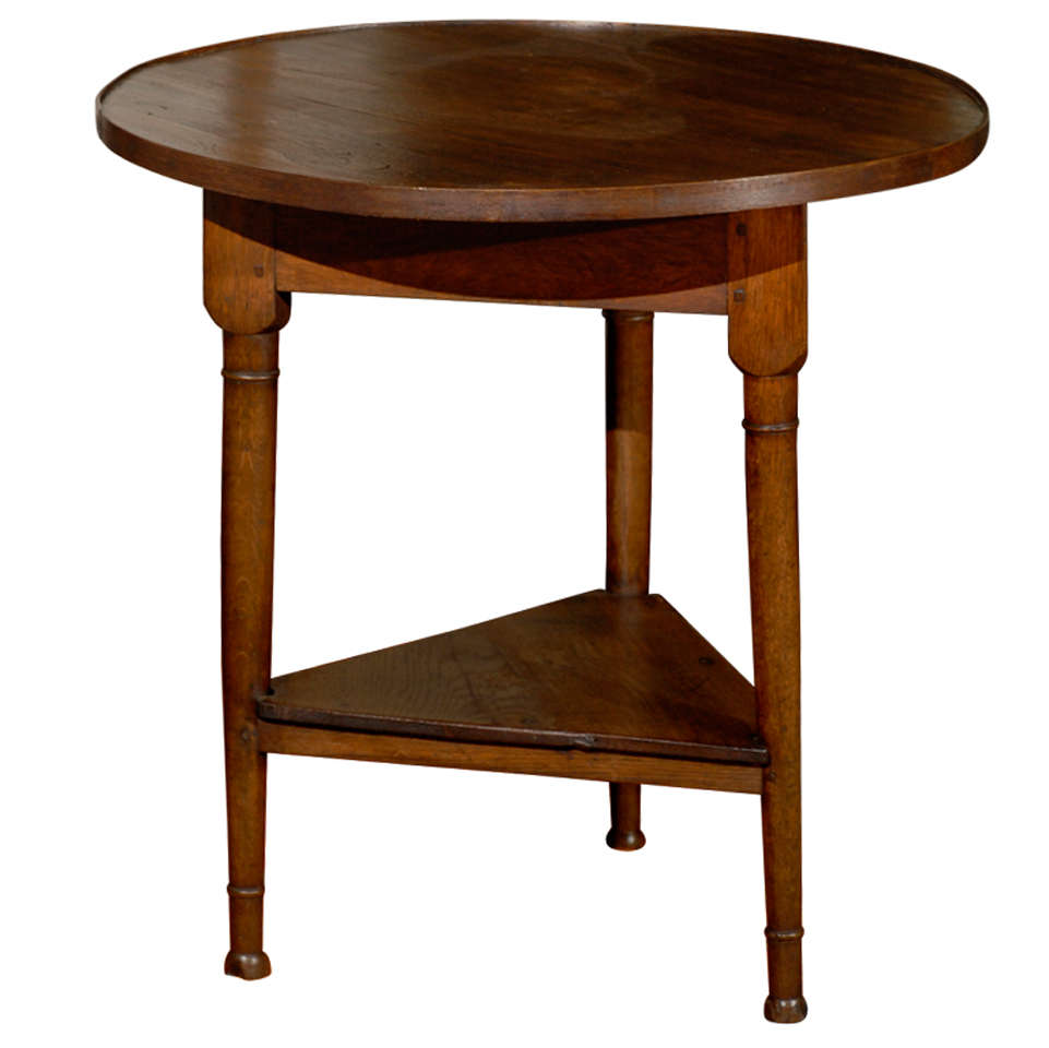 Small Round Oak And Ash Table From France At 1stdibs