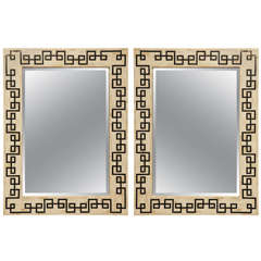 21st c. Pair of Bone and Horn Mirror