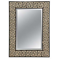 21st.c bone and horn mirror