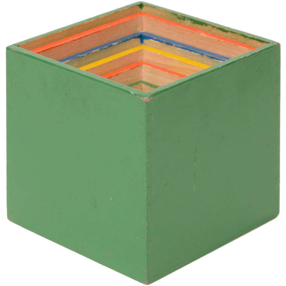 Mid century nesting toy stacking boxes at 1stdibs for Mid century modern toy box