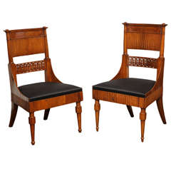 Set of Four Early 19th Century Italian Chairs
