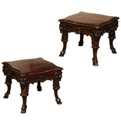 Pair of 19th Century Irish Low Tables
