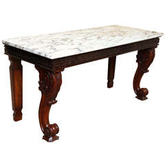 Fine 19th Century Marble-Top Console Table