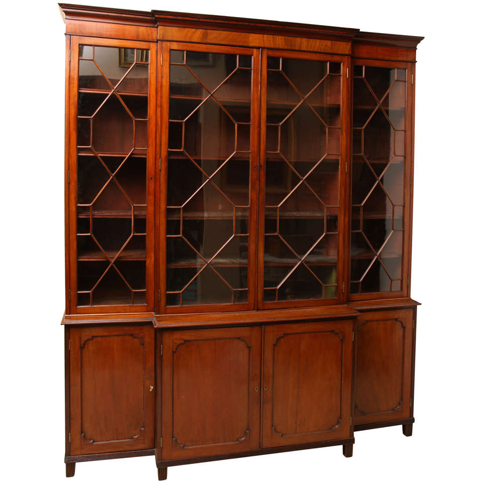 Scottish Regency Breakfront Bookcase