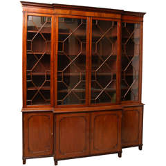 A Scottish Regency Breakfront Bookcase