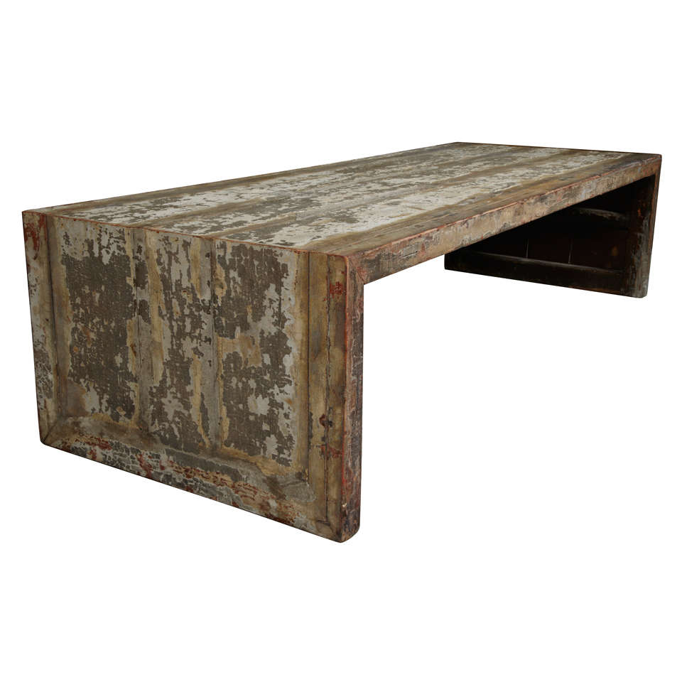 Xixth Century Chinese Coffee Table With Old Laquer At 1stdibs