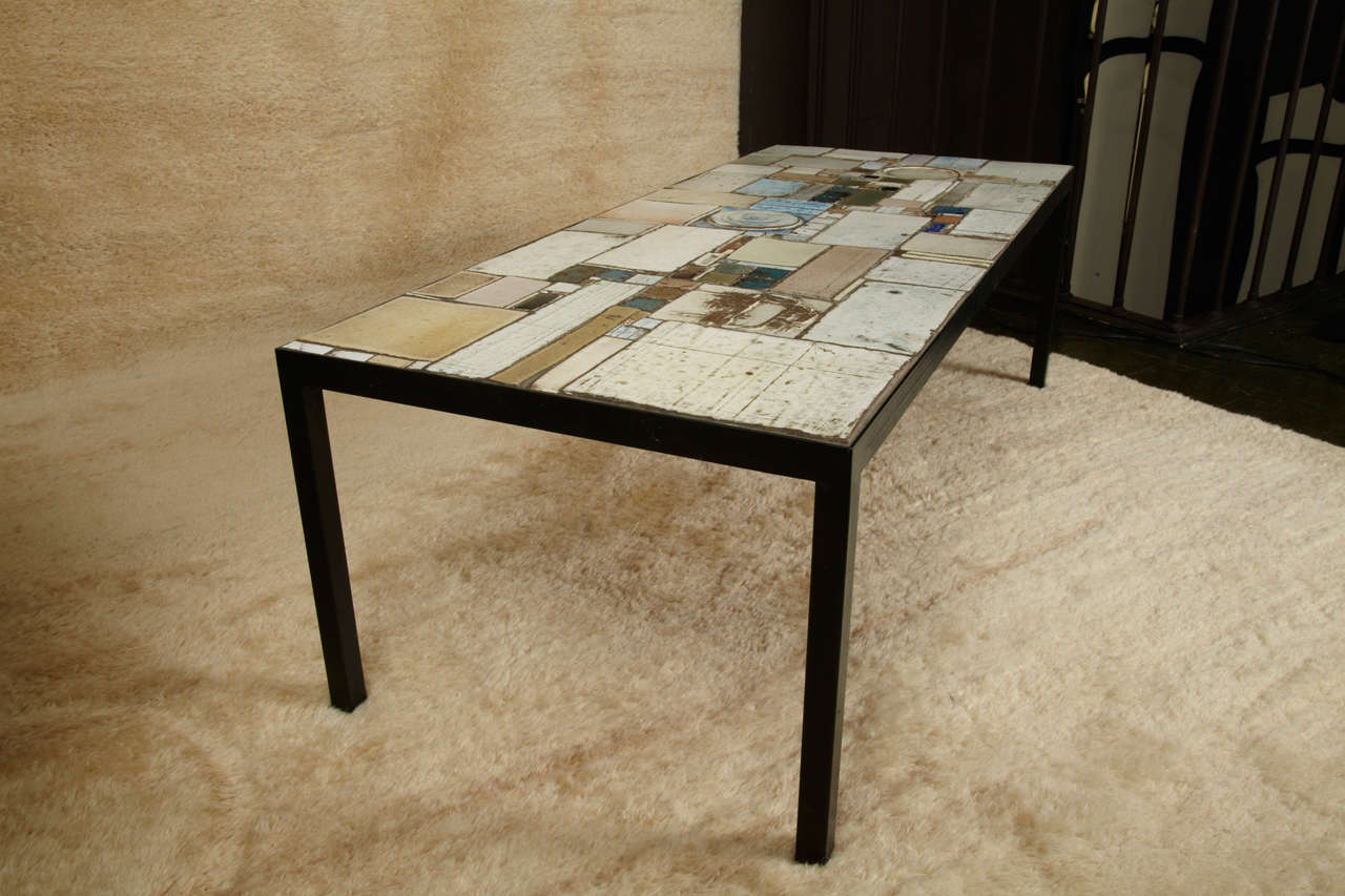 Ceramic Tile Coffee Table By Pia Manu At 1stdibs