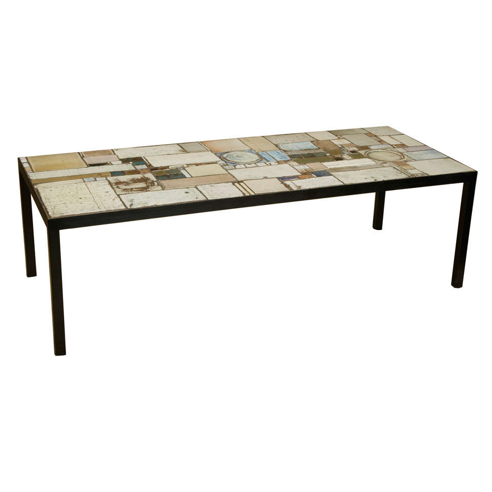 Tile Coffee Table Set: Ceramic Tile Coffee Table By Pia Manu At 1stdibs