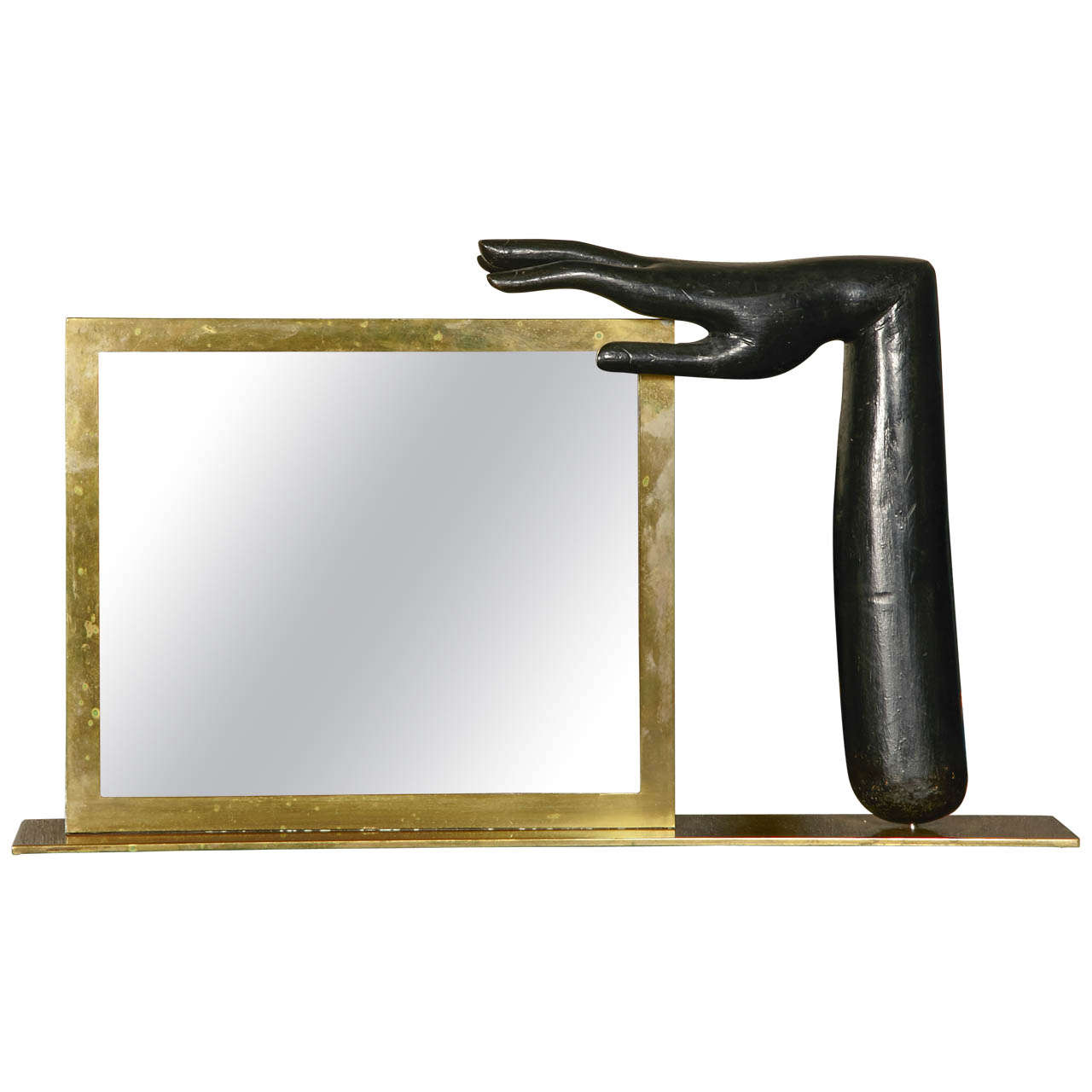 Unique mirror quot main by franz hagenauer at stdibs