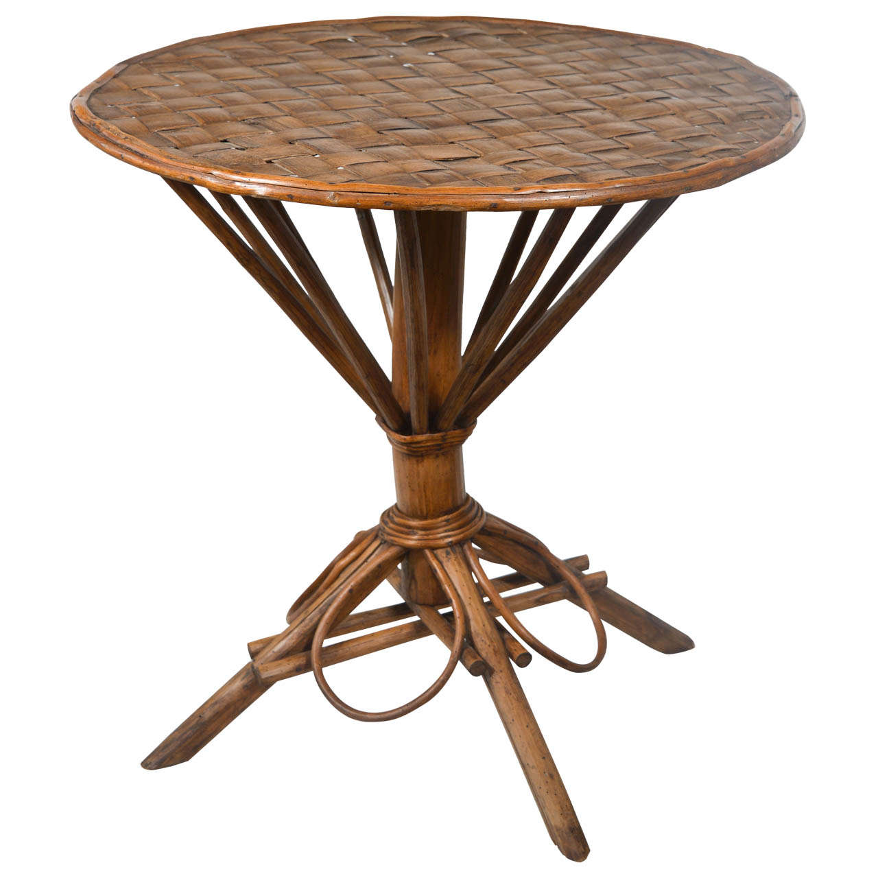 rattan round table at 1stdibs