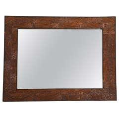 Pine Twig Folk Art Mirror