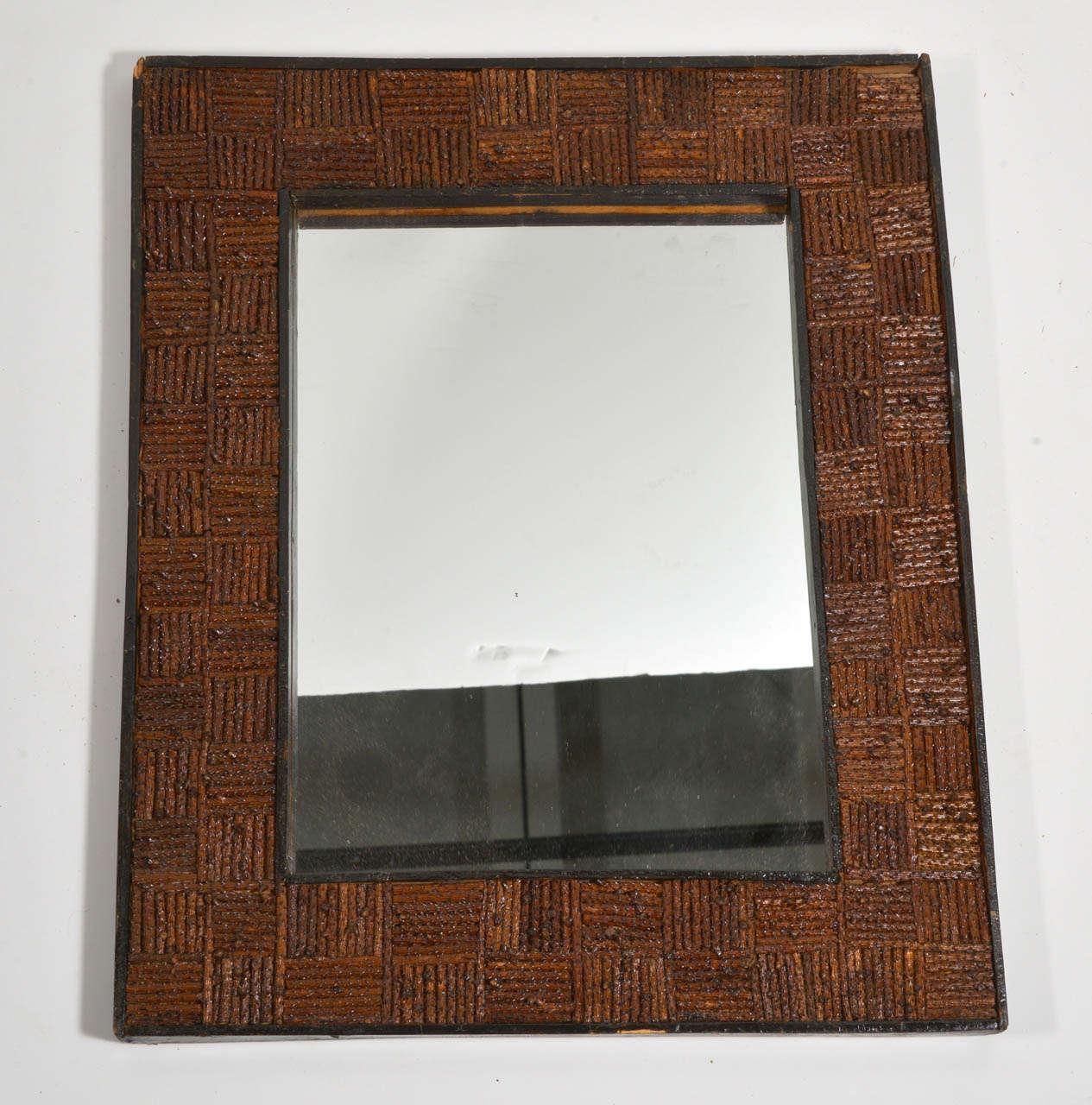 19th C Folk Art Mirror At 1stdibs