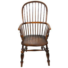 18th C.  Oak Windsor  Chair