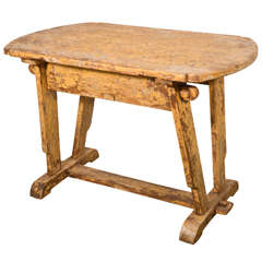 19th Century Rustic Painted Table