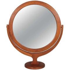 Large Teak Vanity Mirror by Pederson & Hansen