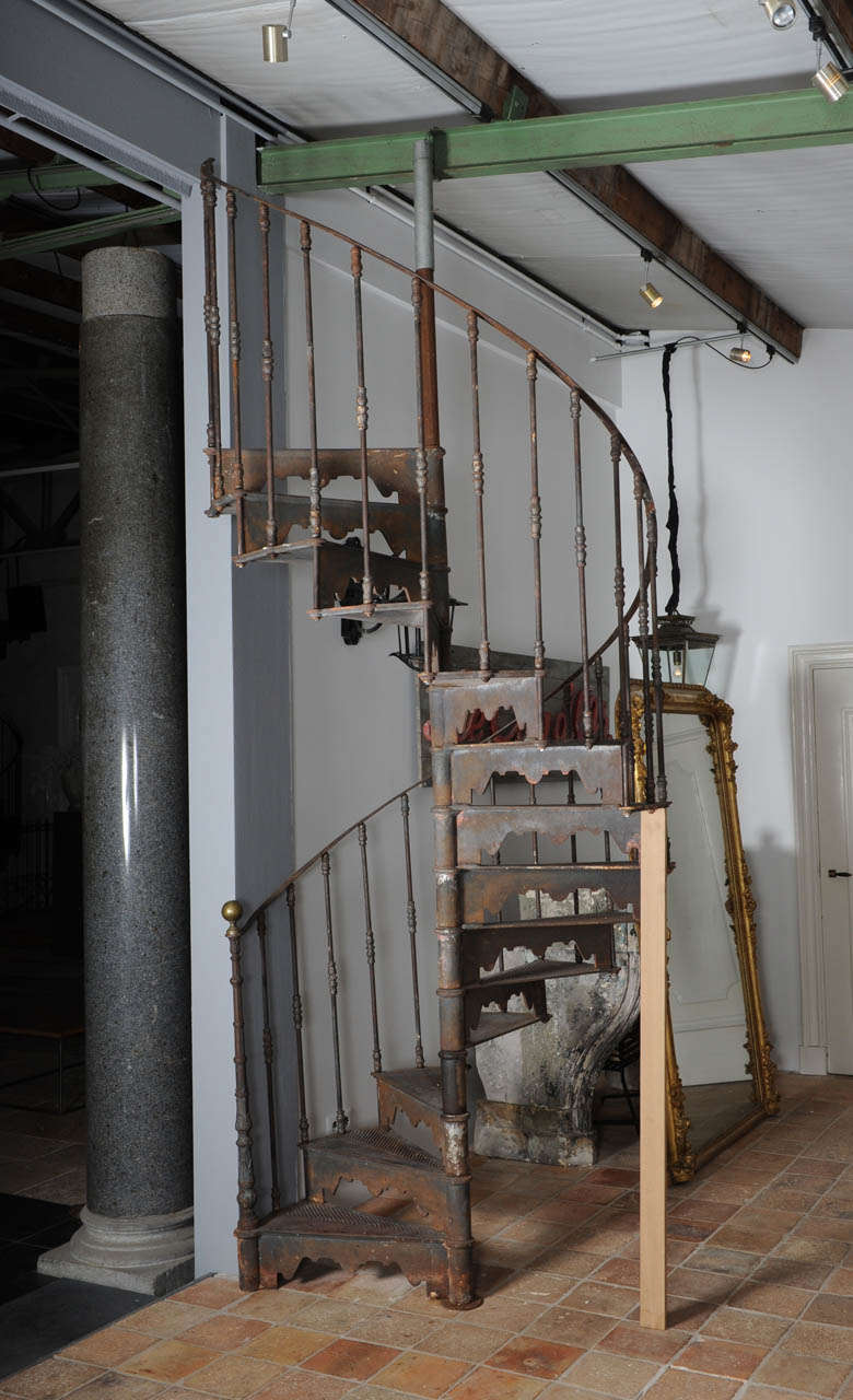 An antique industrial cast iron spiral staircase at 1stdibs for 4 foot spiral staircase