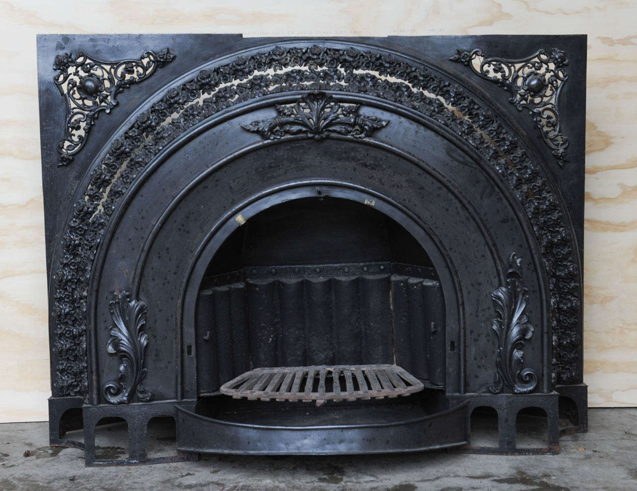 Polished Cast and Wrought Iron Victorian Fireplace, Steampunk Look For Sale 4